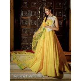 Mango Yellow Flared gown
