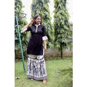 Batik Suit Set with Collar