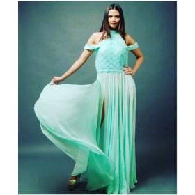 Tinted Aqua Maxi Dress