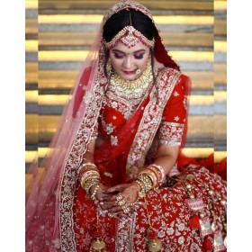 Bridal blouse and lehenga
