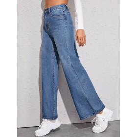 Bleach Wash Baggy Jeans